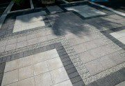 Paver patio by Unilock with Series 3000