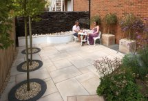 Patio with Natural Stone by Unilock